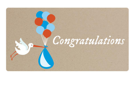 congratulations baby by email gift card the grommet - Baby Gift Card