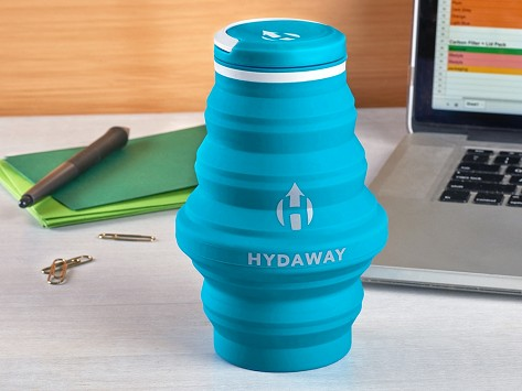 f05fc3687b Collapsible Water Bottle by Hydaway   The Grommet