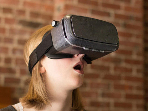 smartphone powered vr headset by vr kix the grommet