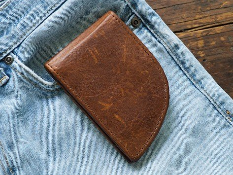 f3c929d5de9 Moose Leather Front Pocket Wallet