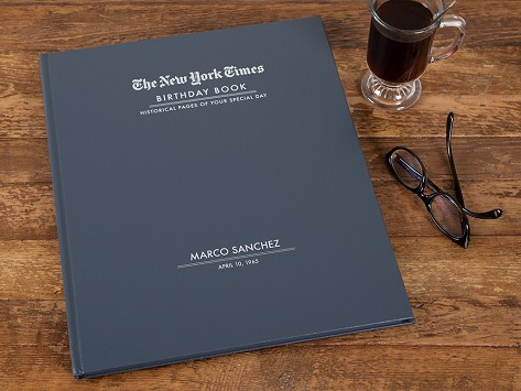 the new york times personalized birthday book