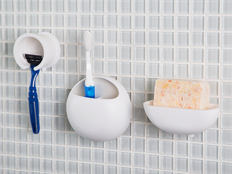 suction bathroom accessories by san ei the grommet - Bathroom Accessories
