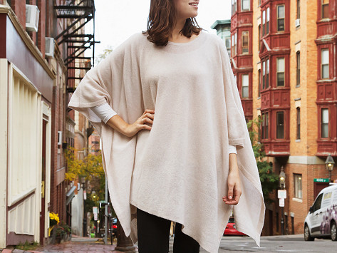 Cashmere Travel Poncho