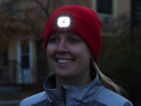 5b0f1c4ad4a Rechargeable LED Beanie Hat  Light On