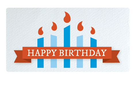 Happy Birthday By Email Gift Card