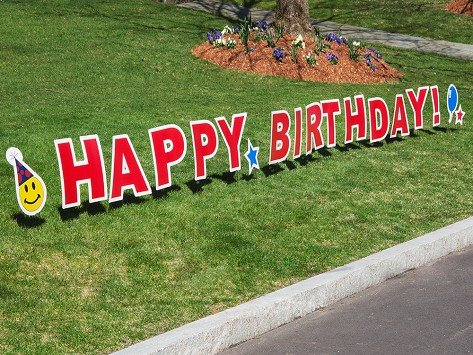 Birthday Yard Signs Custom Shindigz