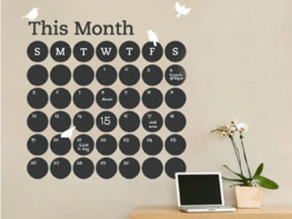 Chalkboard Calendars By Simple Shapes