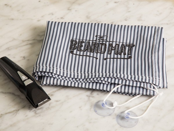 beard trimming mat by beardmat the grommet. Black Bedroom Furniture Sets. Home Design Ideas