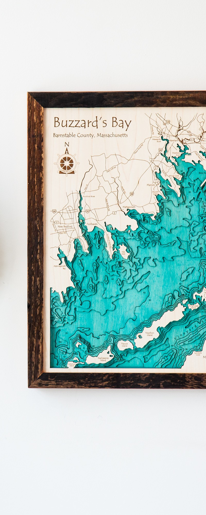 Lake art custom wood map art gifts the grommet
