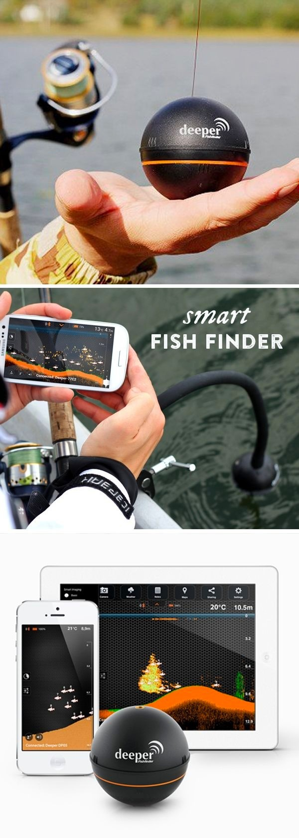 smart fishfinder by deeper, Fish Finder