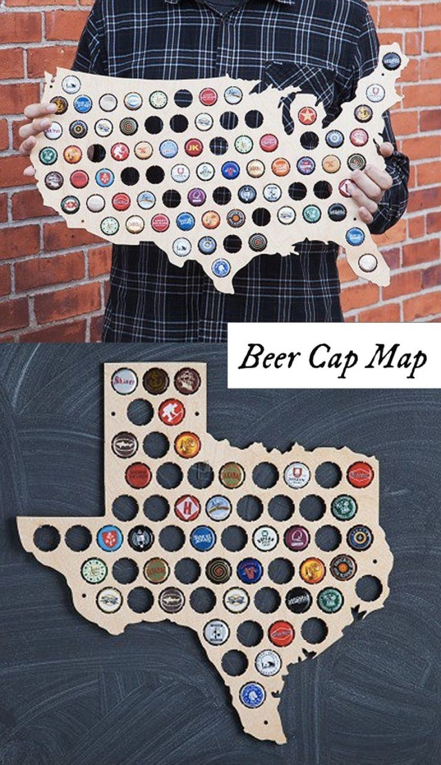 Torched Products Choose Your State Beer Cap Trap - Michigan bottle cap map