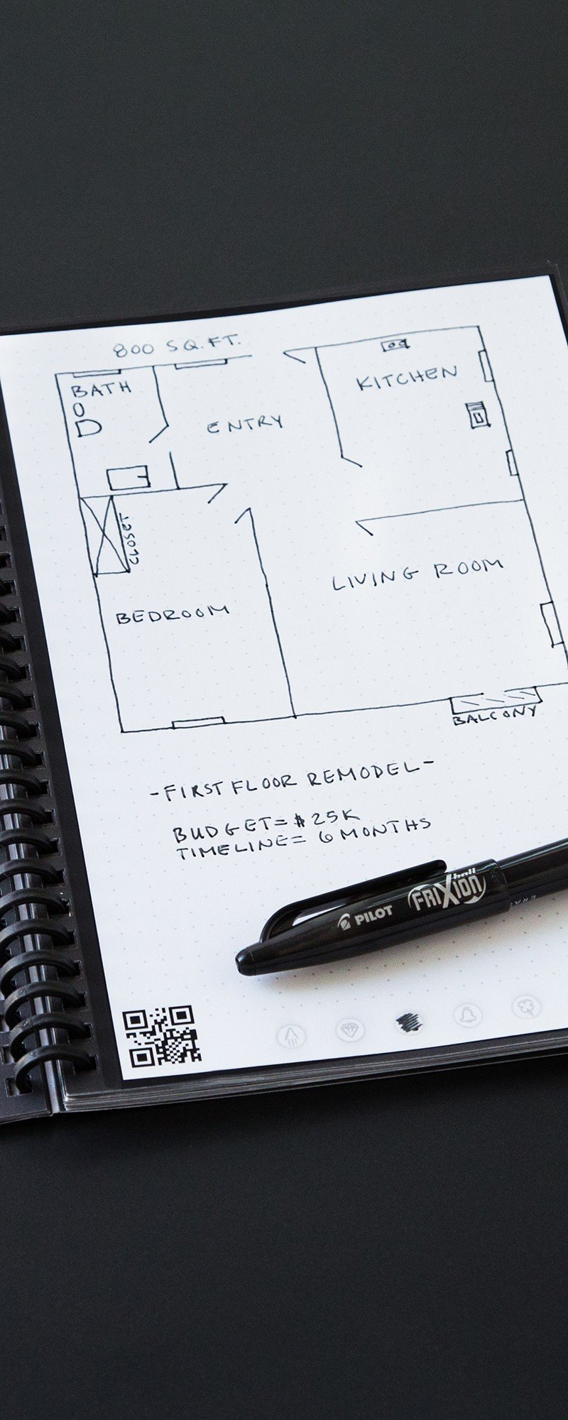 Reusable Cloud Sync Notebook By Rocketbook The Grommet