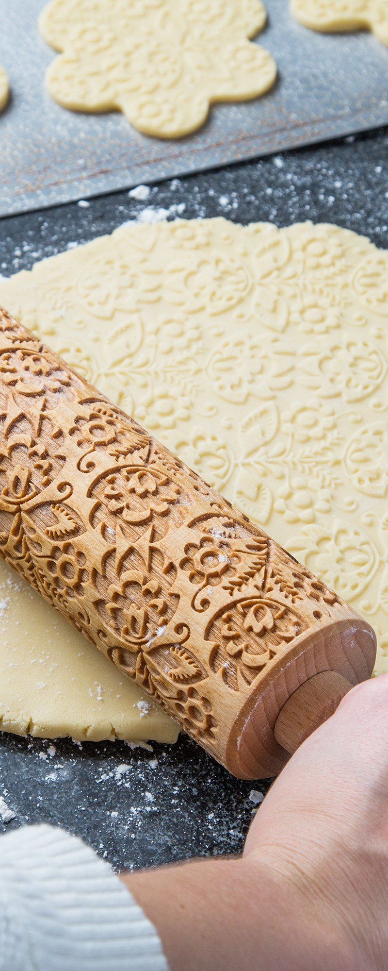 Small Embossing Rolling Pin By Valek The Grommet