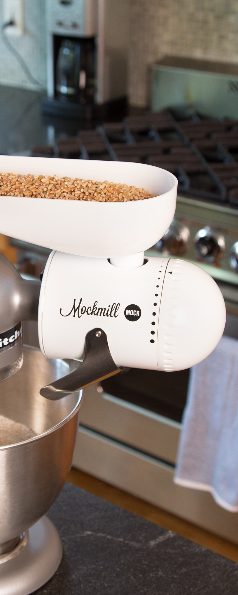 Grain Mill Stand Mixer Attachment The Grommet