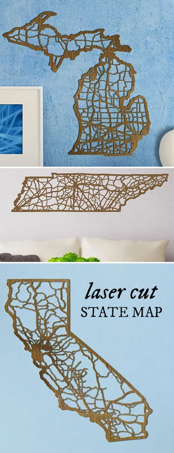 Unique wall dcor laser cut maps from cut maps amipublicfo Choice Image