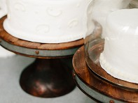etuHOME: Reclaimed Wood Cake Stand