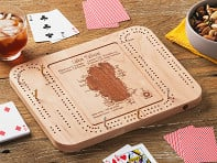 Lake Art: Custom Made Cribbage Board
