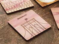 City Landmark Wooden Coasters