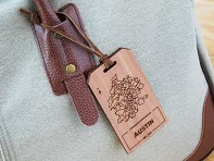 Personalized City Wooden Luggage Tag