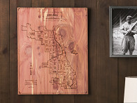 City Map Wooden Wall Art