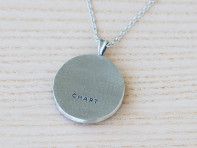 Engraved Pewter Necklace