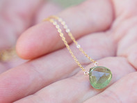 Kyle Chan Design: Green Moss Aquamarine Necklace