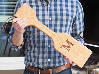 The Great Scrape: Personalized Woody Paddle