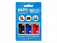CustomUSB: FoldIT USB Flash Drive - 3 Pack