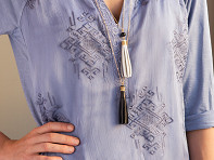 Faire Collection: Layered Tassel Necklace