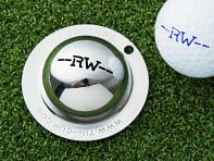 Tin Cup: Custom Initial Golf Ball Marker