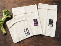 Vejibag: Organic Terry Cloth Produce Storage Bag - Variety Pack