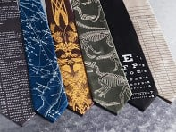 Hand-Printed Neckties