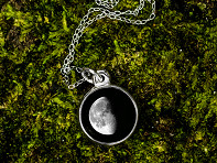 Moonglow: Custom Date Moon Phase Necklace - Simple Design