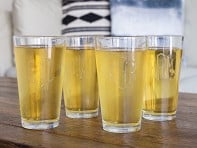 Hand Cut Monogram Pint Glass - Set of 4