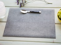 the napkins: Faux-Linen Placemat