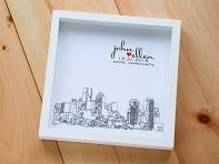 Personalized Skyline Shadow Box
