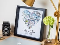 Define Design 11: Personalized Map Heart Shadow Box