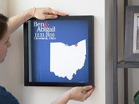 Custom State Outline Shadow Box