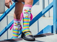 MooshWalks: Kid's Knee High Character Socks