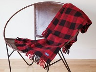 Faribault: Buffalo Check Wool Throw