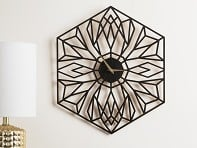 Laser-Cut Desert Bloom Clock