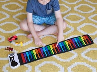 Rock and Roll It: Flexible Roll-Up Rainbow Piano