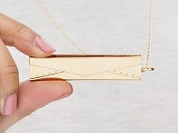 Fortune & Frame: Gold Envelope Fortune Locket