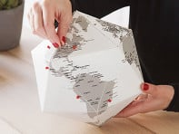 Three-Dimensional Paper Globe