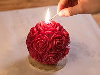 Carved Sphere Candle