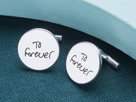 Etched: Custom Script Cufflinks