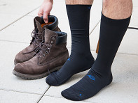 FootGlove: Padded Compression Crew Sock