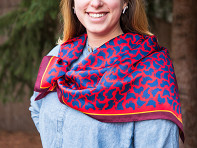 Alexa Sofia: Patterned Silk Scarf