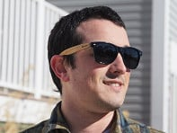 Wooden Retro Square Sunglasses