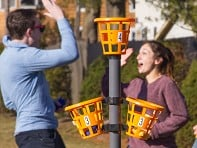 Bean Bag Basket Toss Game